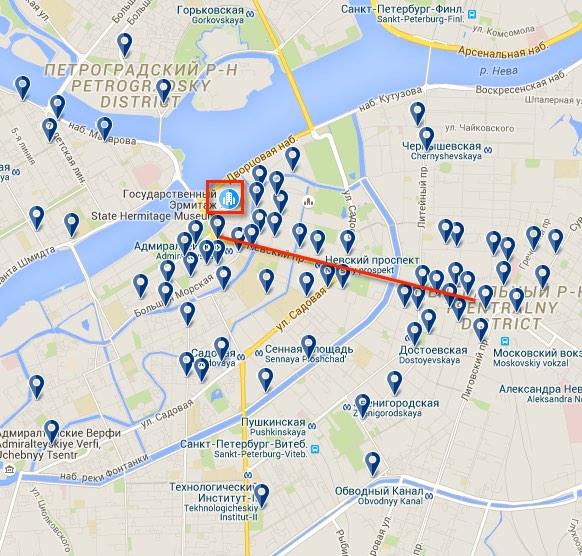 7 Unterkunft in Russland Karte Sankt-Petersburg