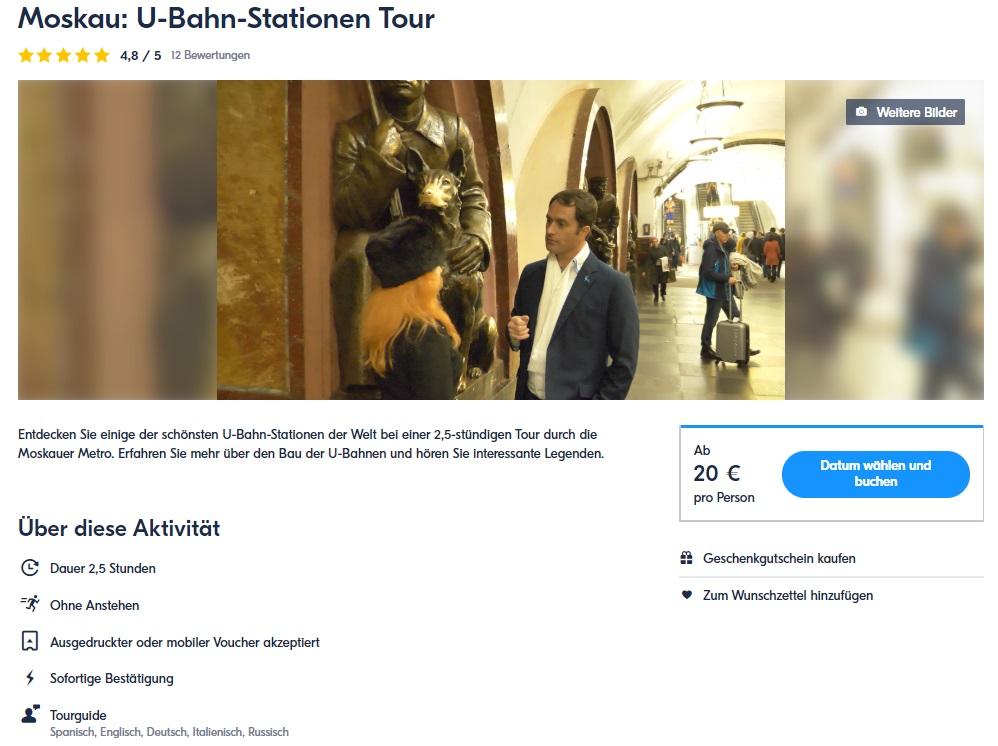 Moskau U-Bahn-Stationen Tour