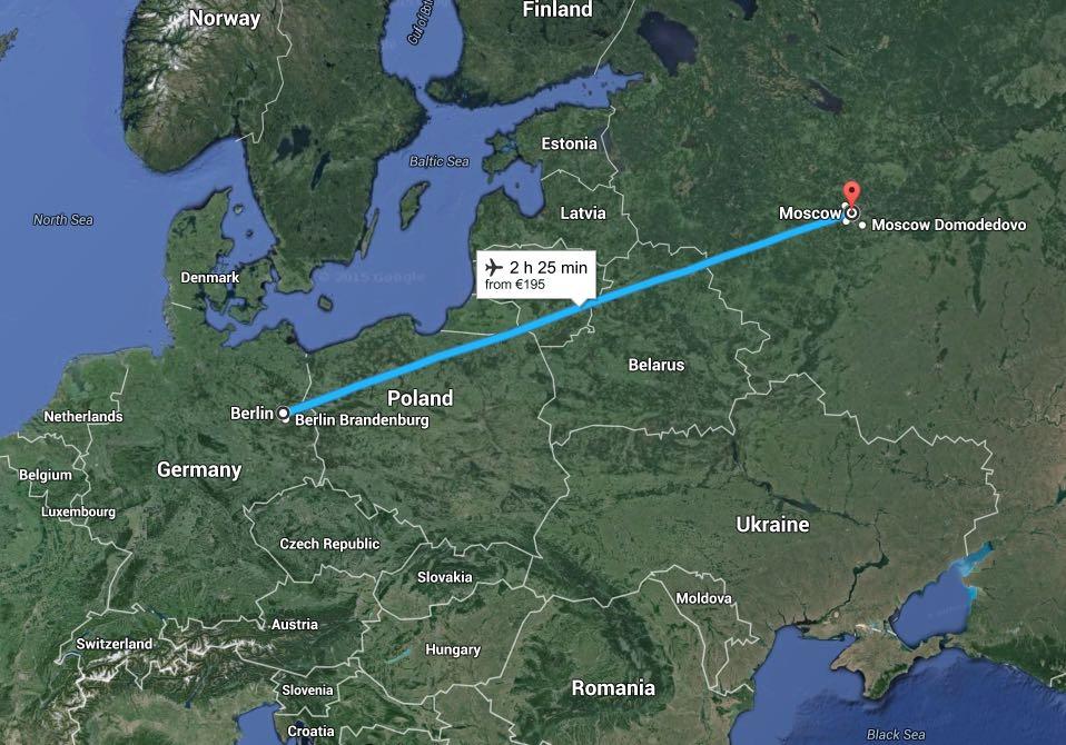 Berlin Moskau - Flug