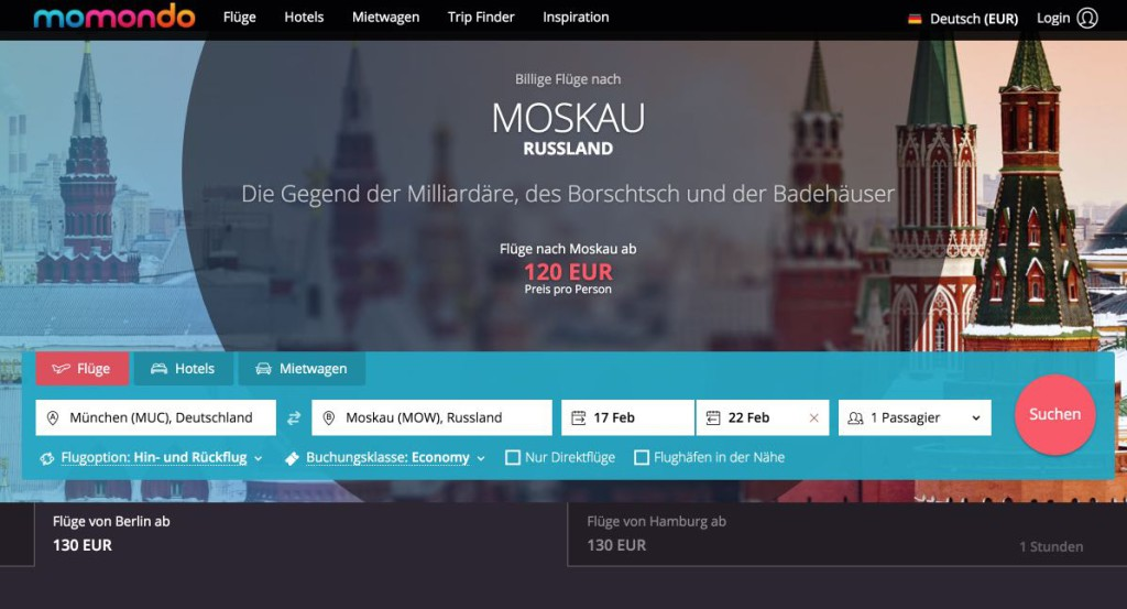 Flug Moskau - Günstige Flüge nach Moskau, Russland – momondo