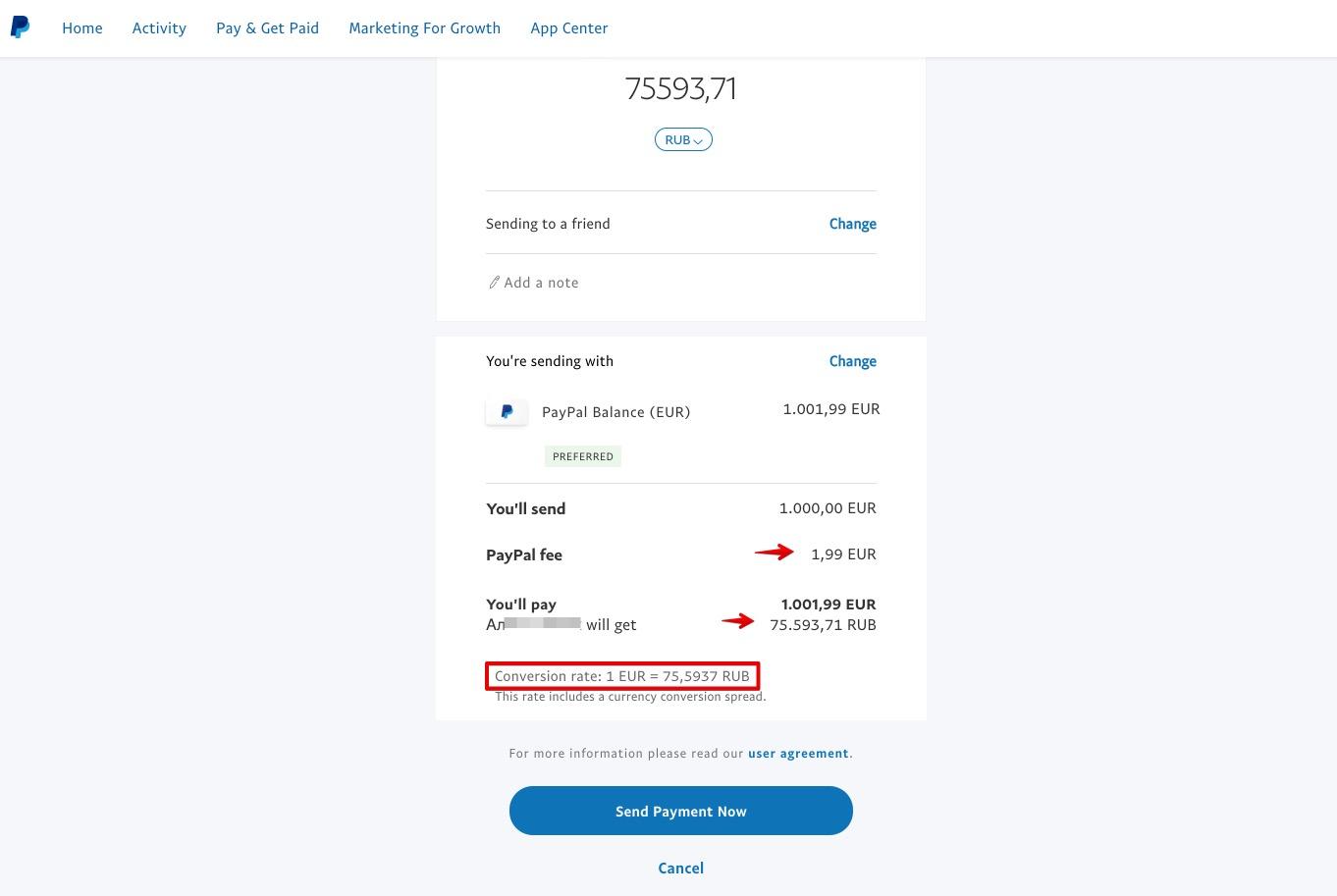 Senden Sie Geld nach Russland uber PayPal 2
