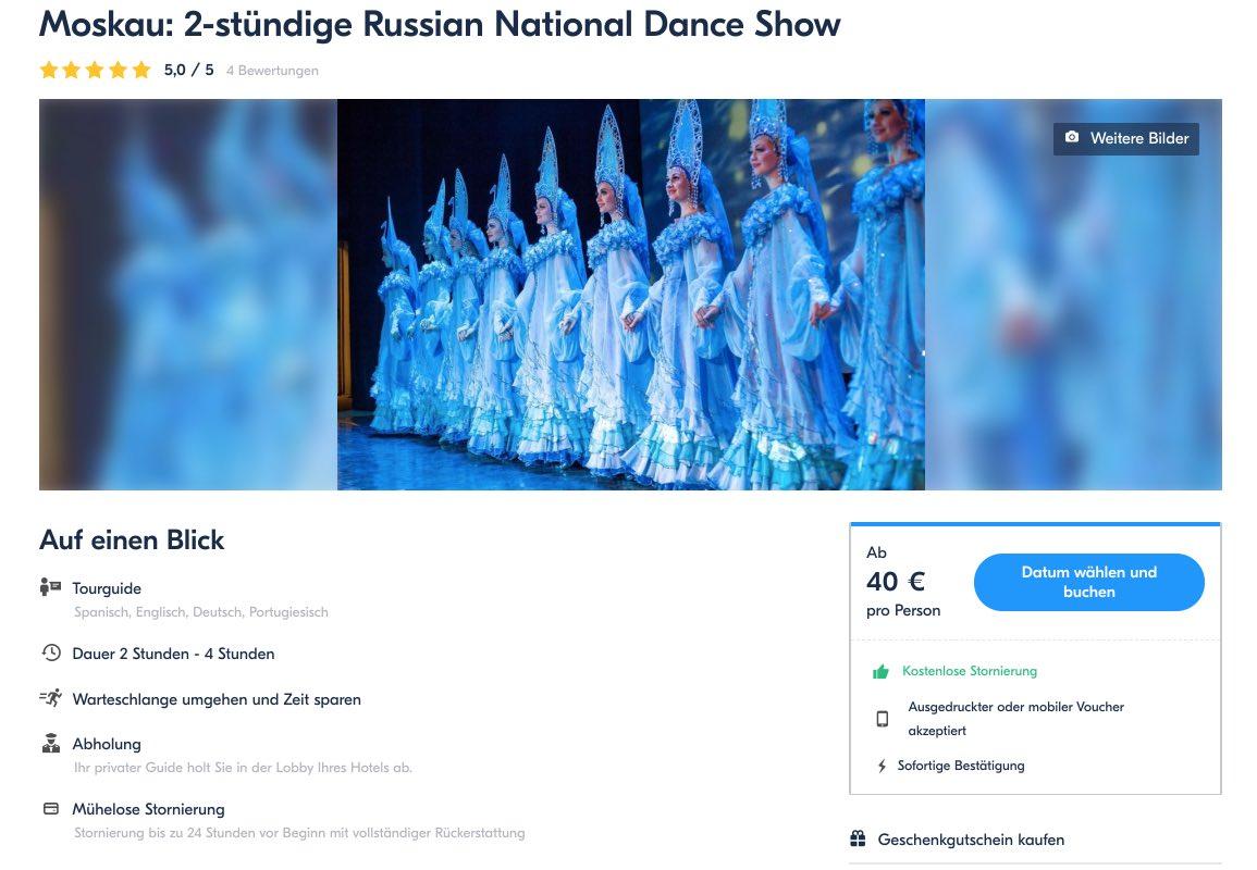 Moskau 2 stundige Russian National Dance Show Kostroma