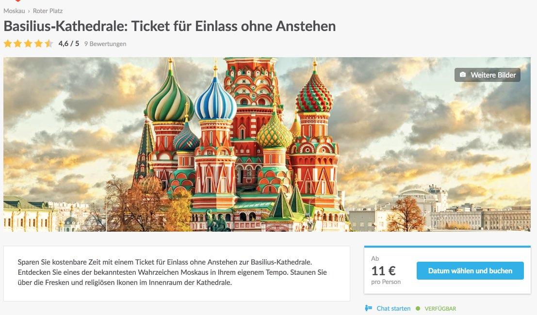 Basilius-Kathedrale - Ticket fur Einlass ohne Anstehen