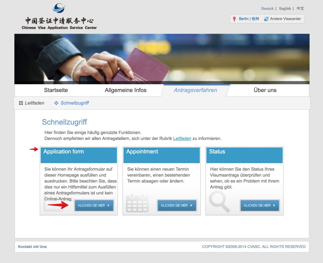 Fullen Sie das chinesische Visumantragsformular 3 aus