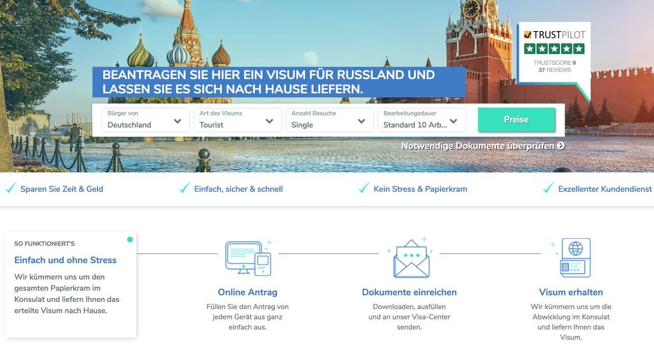 Visum fur Russland - jetzt Russland Visum online beantragen - Viselio