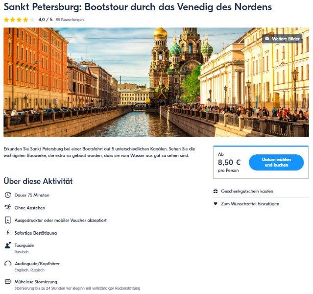 Sankt Petersburg - Bootstour durch das Venedig des Nordens - GetYourGuide