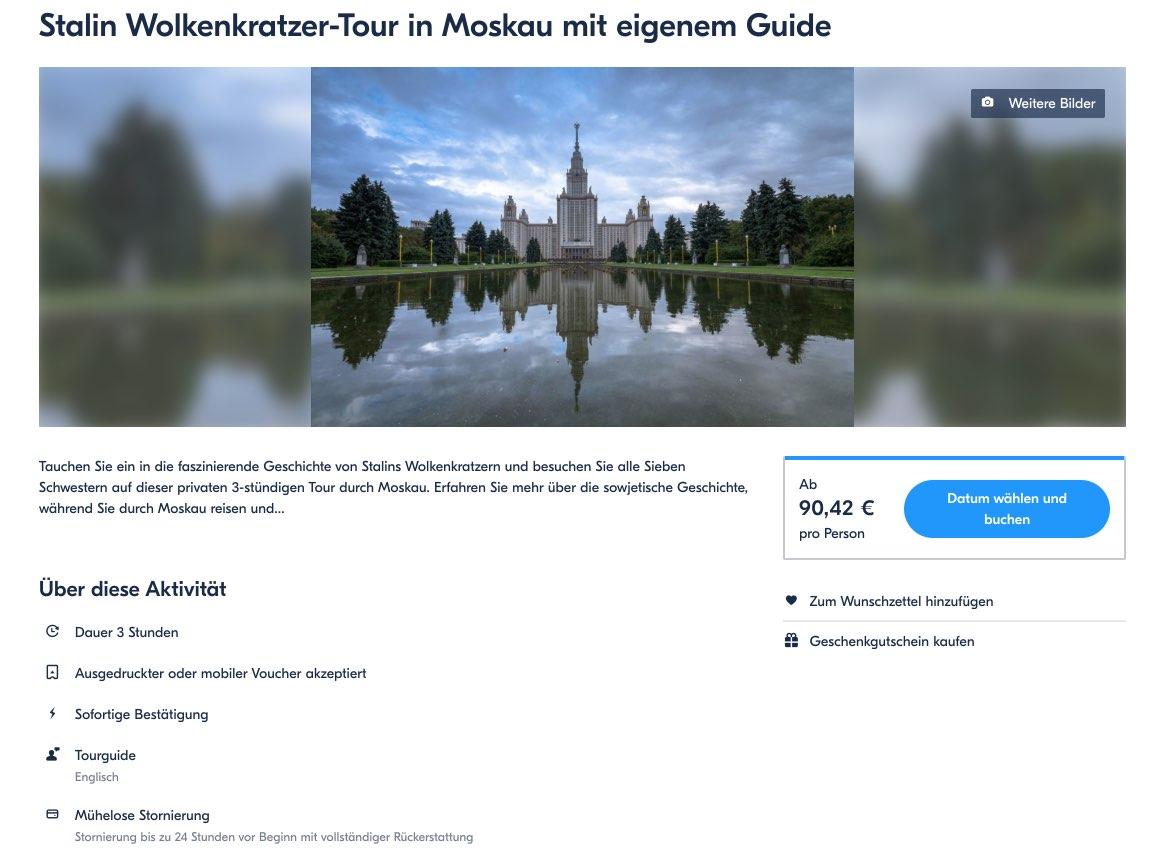 Stalin Wolkenkratzer - Tour in Moskau mit eigenem Guide