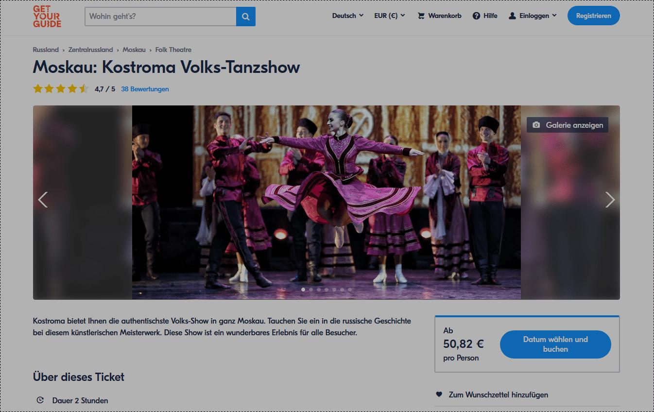 Kostroma Volks-Tanzshow - Moskau