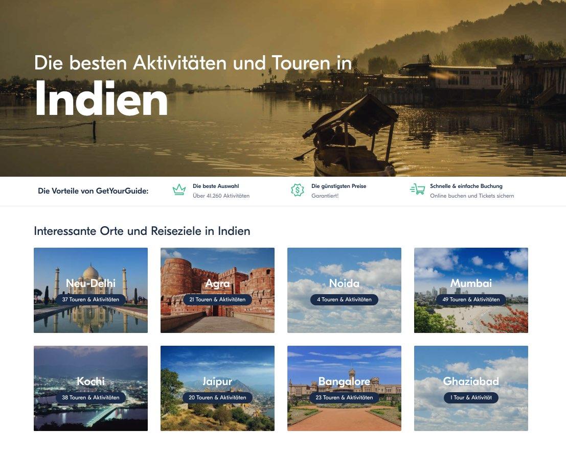Indien - Top Touren Trips und Aktivitaten