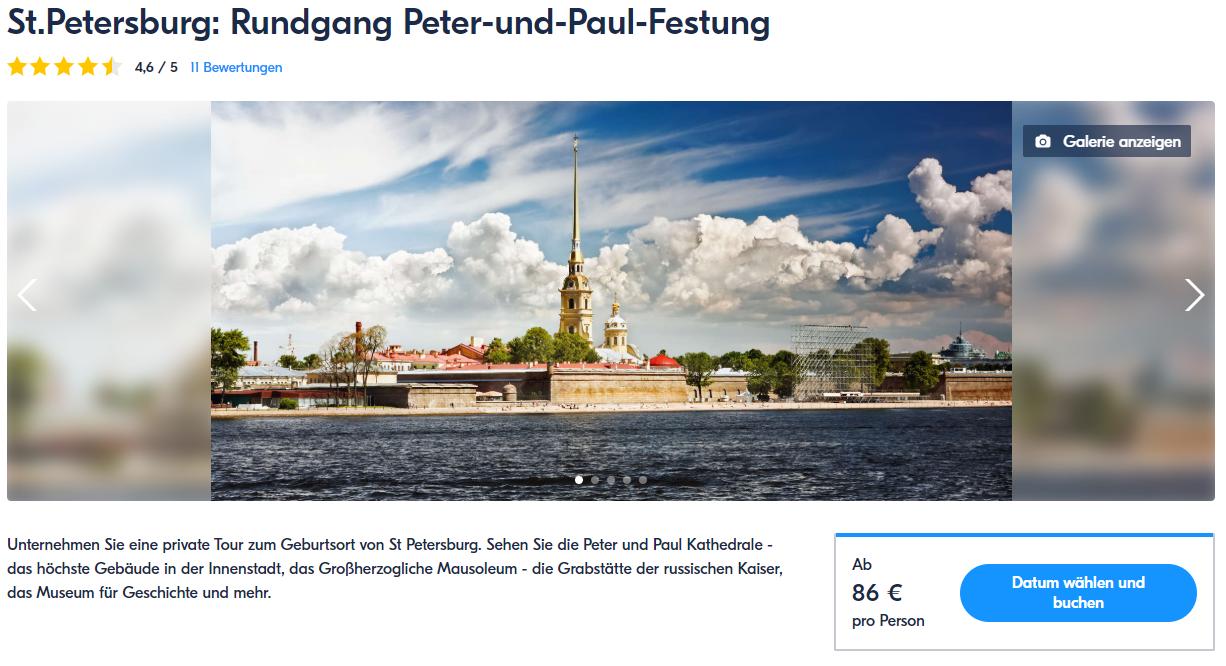 Rundgang Peter-und-Paul-Festung - St Petersburg